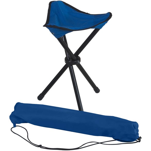 Royal Blue Folding Tripod Stool with Carrying Bag