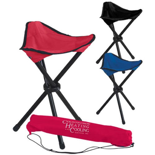 Folding Tripod Stool With Carrying Bag Trade Show Giveaways