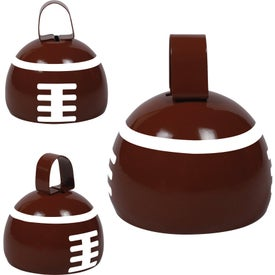 Monogrammed Football Cow Bell