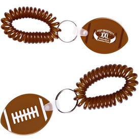 Football Key Fob with Coil