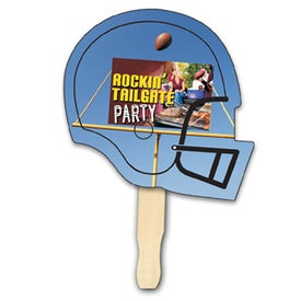Football Shape Hand Fan (Digitally Printed)