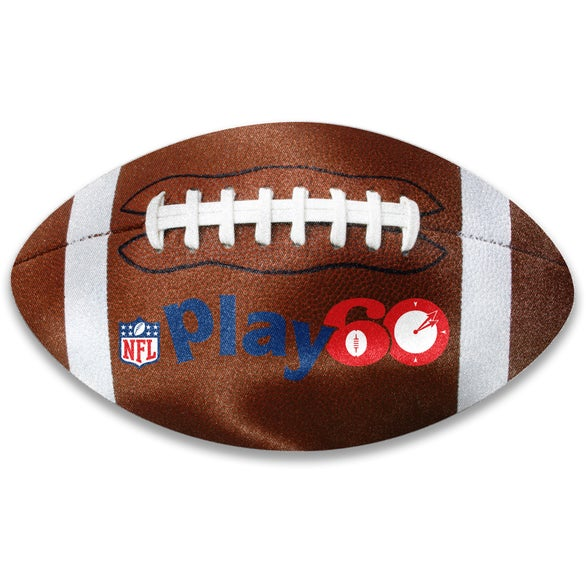 Full Color Imprint Football Shaped Microfiber Cleaning Cloth