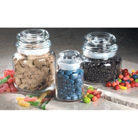 Imprinted Fortune Glass Jars