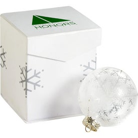 Monogrammed Frost Holiday Ornament