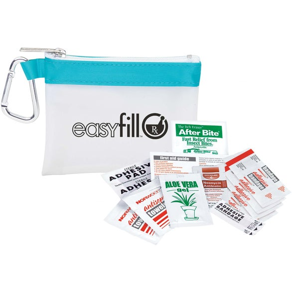 White / Blue Frosty Stripe First Aid Kit