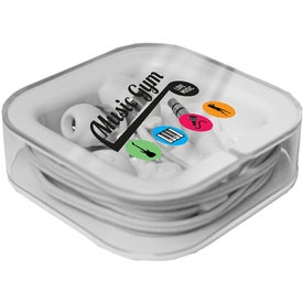 Nite Glow Ear Buds (Full Color Logo)
