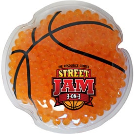 Basketball Gel Bead Hot Cold Pack (Full Color Logo)