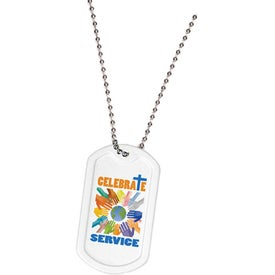 Plastic Dog Tag Printed with Your Logo