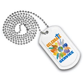 "Plastic Dog Tag (23 1/2"" Ball Chain, Digitally Printed)"