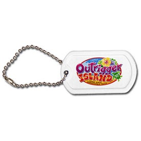 "Plastic Dog Tag (4 1/2"" Ball Chain)"