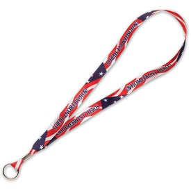 Personalized Full Color Poly Ribbon Lanyard
