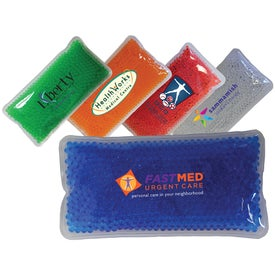 Rectangle Gel Bead Hot Cold Packs (Full Color Logo)