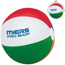 """Full Size Inflatable Beach Ball (16"""")"""