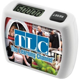 Full Color Pedometer Branded with Your Logo