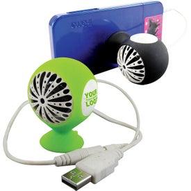 promotional nano speakers custom logo for ea fusebox speaker and phone holder