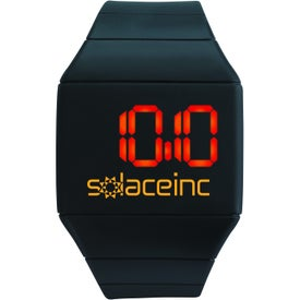Futuristic Digital Watch Imprinted with Your Logo