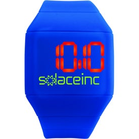 Futuristic Digital Watch Branded with Your Logo