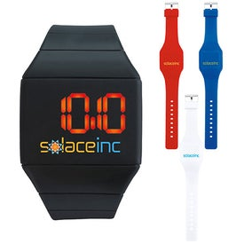Futuristic Digital Watch Printed with Your Logo