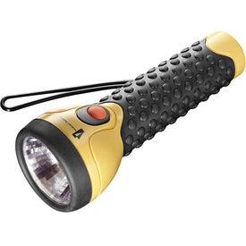 Garrity 2D GTech Rubber Grip Flashlight for Marketing