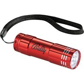 Flare 9 LED Flashlight Printed with Your Logo