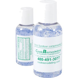 Gel Hand Sanitizer 2 Oz. Bottle with Blue Beads