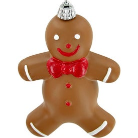 Gingerbread Man Ornament Printed with Your Logo