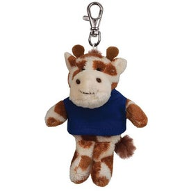 Giraffe Plush Key Chain
