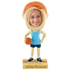 Girl's Basketball Single Bobble Heads