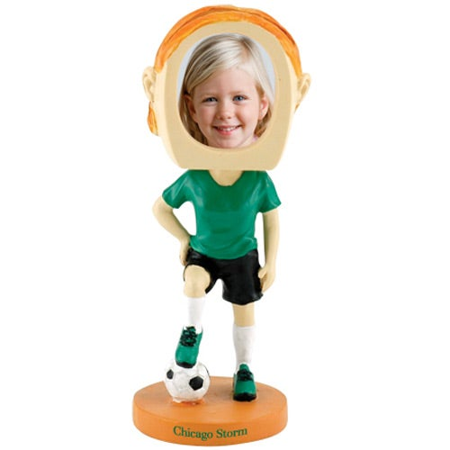 Girl's Soccer Single Bobble Heads