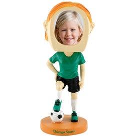 Girl's Soccer Single Bobble Heads