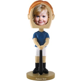 Girl's Softball Single Bobble Heads