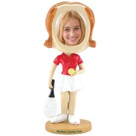 Girl's Tennis Single Bobble Heads