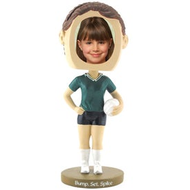 Girl's Volleyball Single Bobble Heads