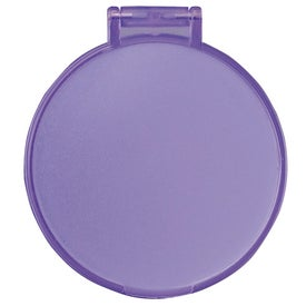 Glimmer Round Mirror with Your Slogan