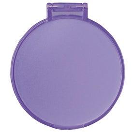 Glimmer Round Mirror with Your Slogan