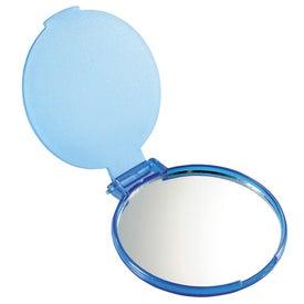Glimmer Round Mirror with Your Logo