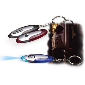 Glow-Guide Light and Key Chain with Your Logo