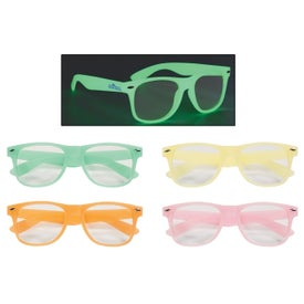 Glow-In-The-Dark Glasses with Clear Lenses with Your Logo