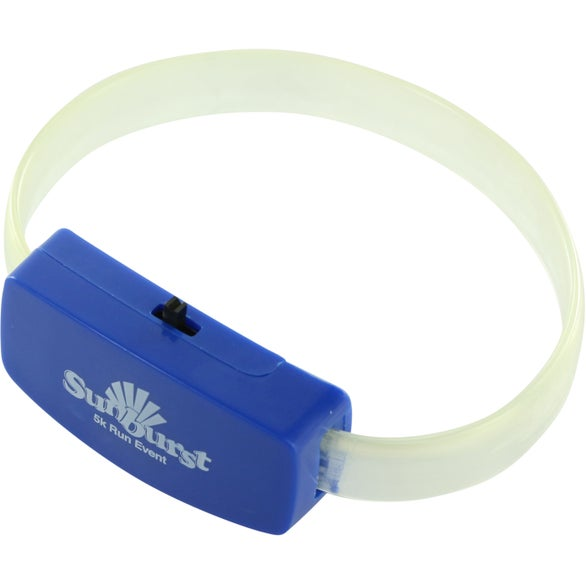 Clear / Blue Glow Light Wristband