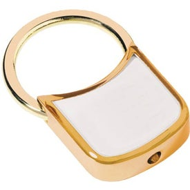 Gold Plated Zinc Alloy Key Holder with Dome for Advertising
