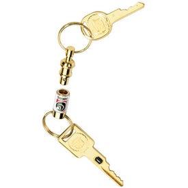 Gold Tone Pull-Apart Key Tag