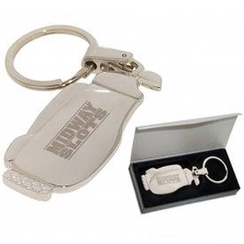 Personalized Golf Bag Keychain