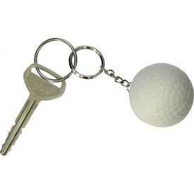 Golf Ball Key Chain Stress Ball with Your Slogan