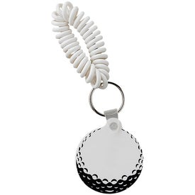 Golf Key Fob with Coil with Your Slogan
