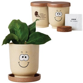 Goofy Grow Pot Eco-Planter with Chive Seeds