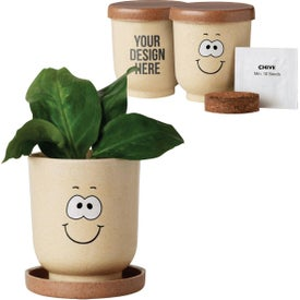 Goofy Grow Pot Eco-Planters with Chive Seeds