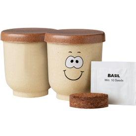 Advertising Goofy Grow Pot Eco-Planter with Basil Seeds