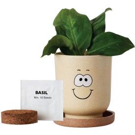 Custom Goofy Grow Pot Eco-Planter with Basil Seeds