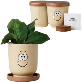 Goofy Grow Pot Eco-Planter with Basil Seeds for Advertising