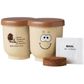 Goofy Grow Pot Eco-Planter with Basil Seeds with Your Slogan